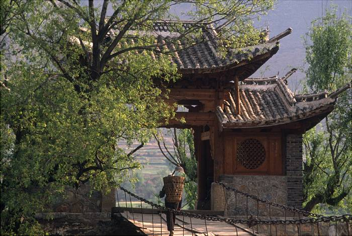 Man and gate in China